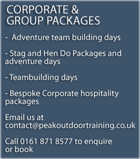 Peak District Corporate and Group Packages